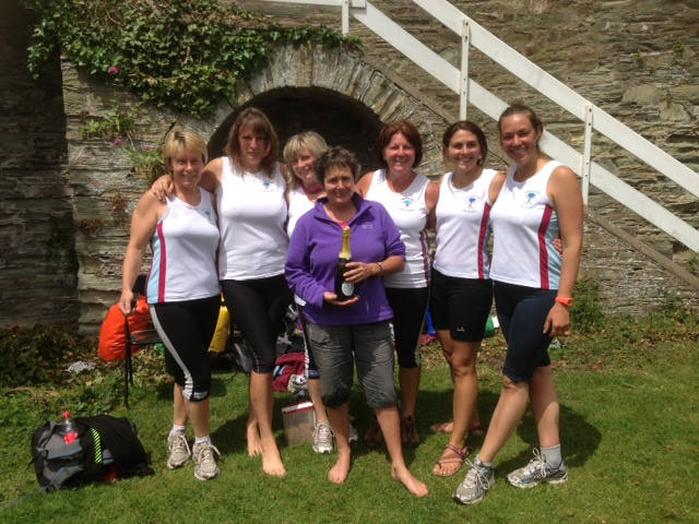 The winning Ladies A Team: Julie Eastaugh, Katie Turner, Julie Rendle, Jo Cameron (cox), Lynn Renton, Heidi Brodribb and Charity Phillips
