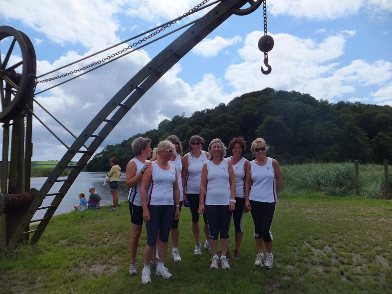 T&T Ladies Tamar Challenge crew: Helen Samson-Hill, Carolyn Dawe, Mel Cotton, Katie Turner, Tricia Stewart (cox), Lynn Renton and Julie Eastaugh