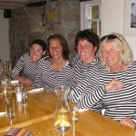 Stripey tops for our meal at the Kavorna