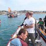 Men's B rafting up